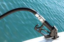 Diesel Fuel Pump Refueling A Motor Boat