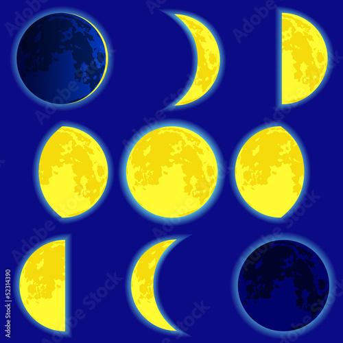 Foto op Aluminium Pixel Lunar phase