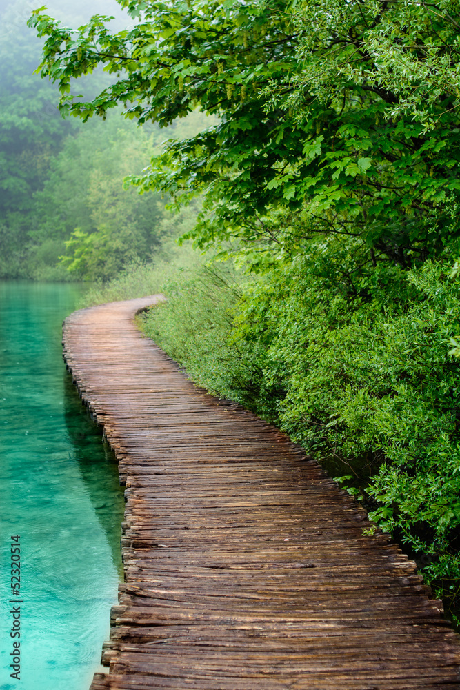Fototapeta Wooden Bridge