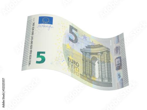 Photographie  Neuer 5 Euro Geldschein