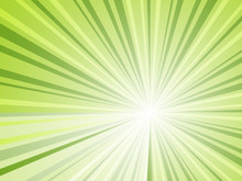Abstract Green Rays Horizontal...
