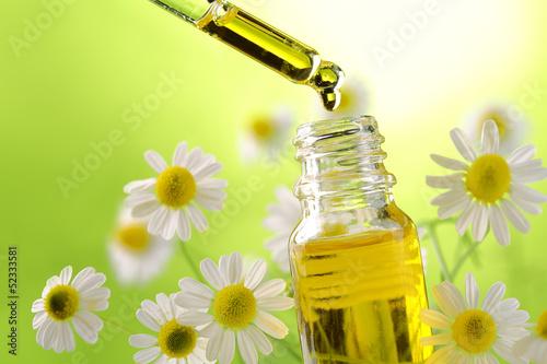 Fotografie, Obraz  Drop falling from dropper of essential oil
