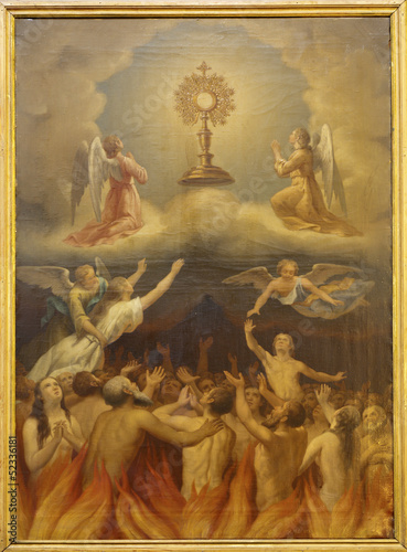 Madrid - Eucharist and the souls in purgatory.