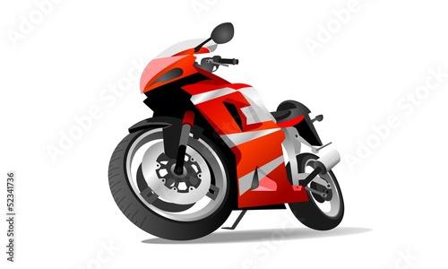 La pose en embrasure Motocyclette motorcycle parking spot