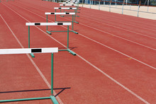 Straight Lanes Of Running Track