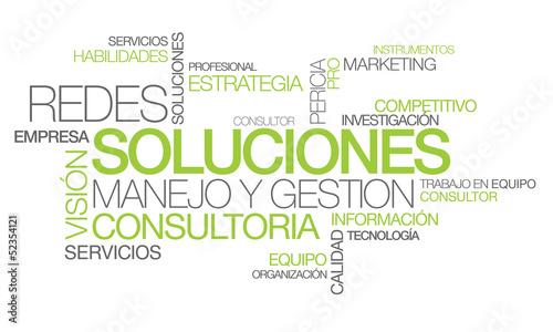 Photo Soluciones redes manejo y gestión consultoría nube de etiquetas
