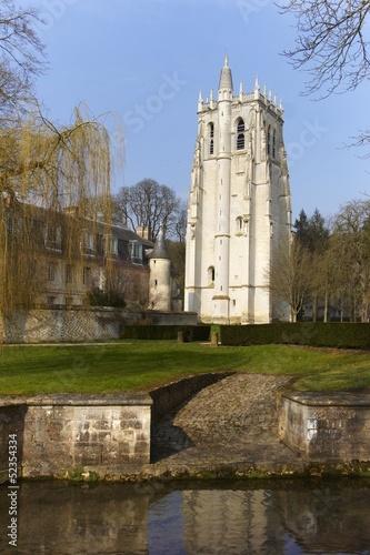 Fotografering  abbaye du bec hellouin en normandie