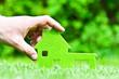 Leinwanddruck Bild - Haus im grünen