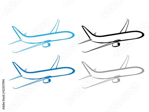 Fotografie, Obraz  airplane, plane, airplane symbol, stylized airplane