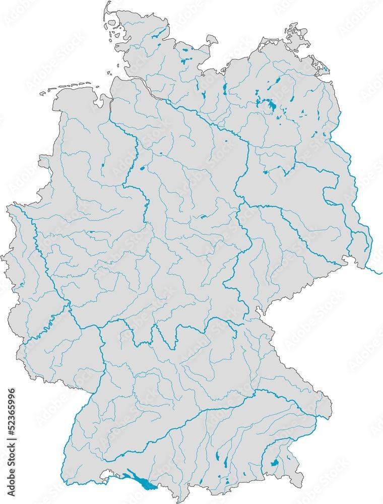 Gamesageddon Stock Deutschlandkarte Flusse Und Seen
