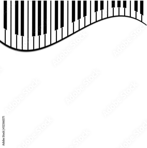 Naklejka na meble piano keys on a white background