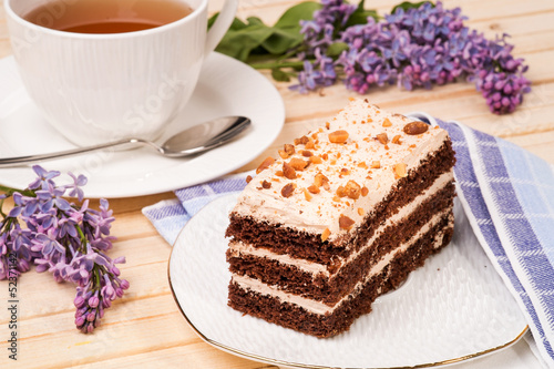 Photographie Sponge cake with nuts