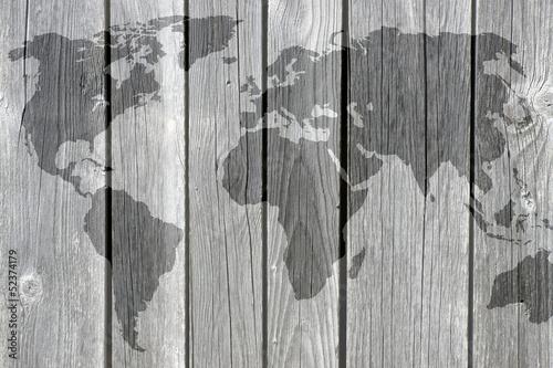 Fototapeta mapa mapa-swiata-na-deskach