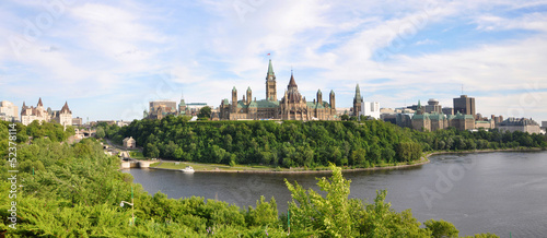 Photo sur Toile Canada Parliament Buildings and Library, Ottawa, Ontario