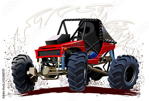 Deurstickers Cartoon cars Vector Cartoon Buggy