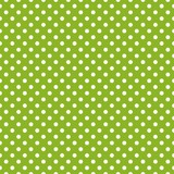 Seamless vector spring green background white polka dots