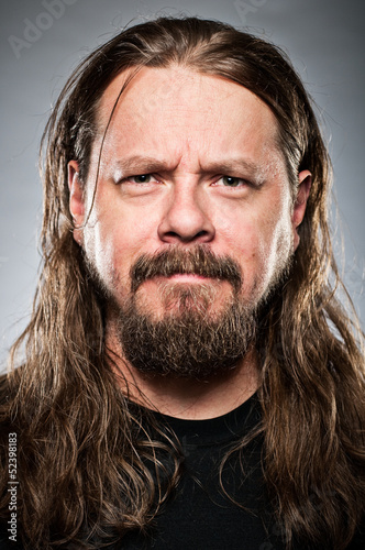 Fotografie, Obraz  Caucasian Man With Long Hair