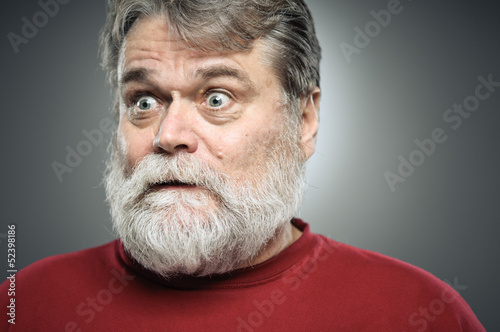 Fotografija  Mature Caucasian Man Surprise Expression Portrait