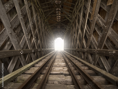 Fotografie, Obraz  Light at the end of the tunnel