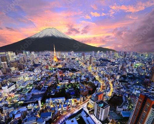Poster Tokyo Tokyo and Fuji