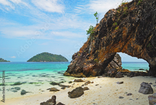 Fototapety, obrazy: the symbol place of Kai island , Satun , Thailand