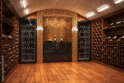 Wine cellar Canvas Print