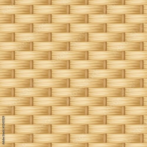 Fotografía  Wicker texture. Vector seamless background.