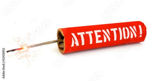 Pétard Attention Fototapet