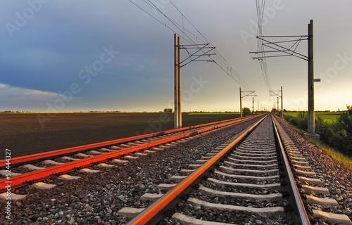Poster Voies ferrées Railway