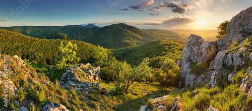 Fototapeta Mountain forest panorama - Slovakia obraz