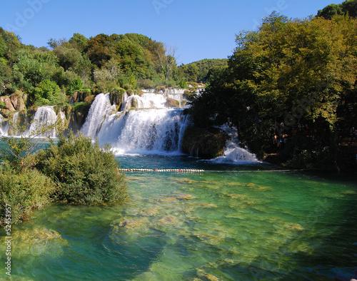 Waterfalls on Krka river. Dalmatia, Croatia.