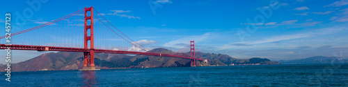 Fotobehang San Francisco Panoramic View of tGolden Gate Bridge in San Francisco