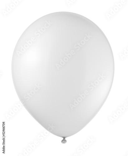 Staande foto Ballon white balloon soaring on a white background