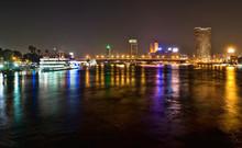 Nile Bridge At Night