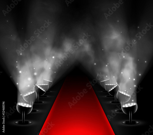 Red carpet Wallpaper Mural