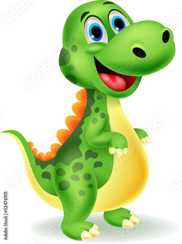 Cute dinosaur cartoon Poster
