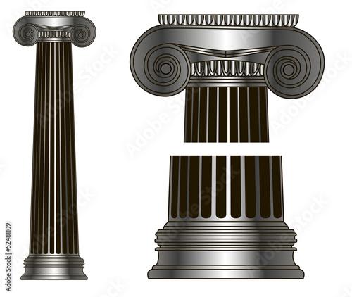 Foto op Aluminium Bedehuis old-style greece column. eps10 vector illustration