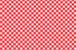 canvas print picture - Red Italian Picnic Cloth