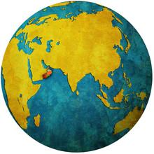 Oman On Globe Map