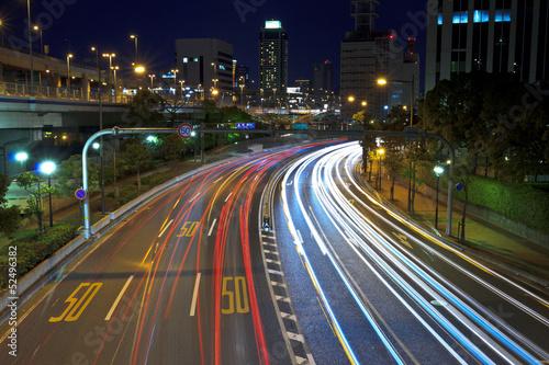 Foto op Aluminium Nacht snelweg ルート43