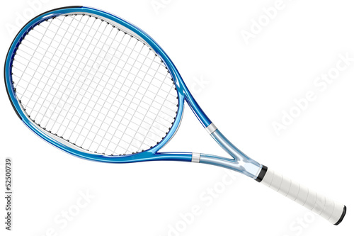 Photo Tennis Racket Blue