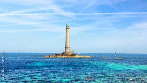 Obraz na plátně Goury Lighthouse in Normandy, France.