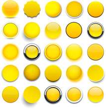 Round Yellow Icons.