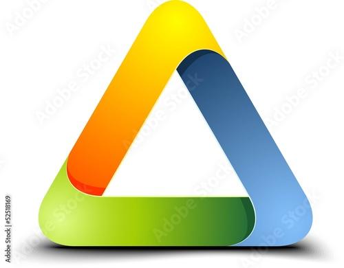 Fotografie, Obraz  Impossible triangle sign