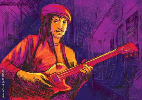 gitarzysta-rysunek-przeksztalcony-w-wektor