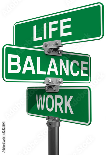 Work Life or Balance street signs Poster