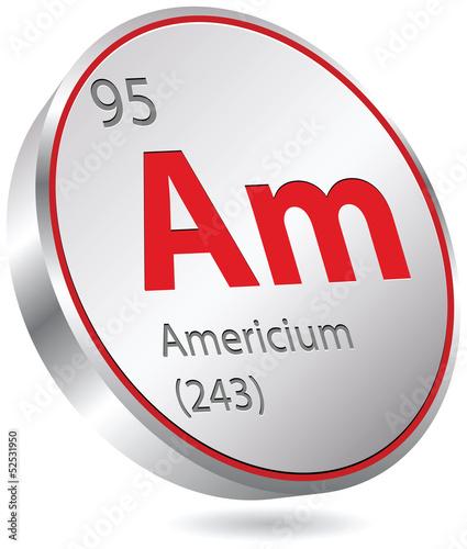Photo Americium element