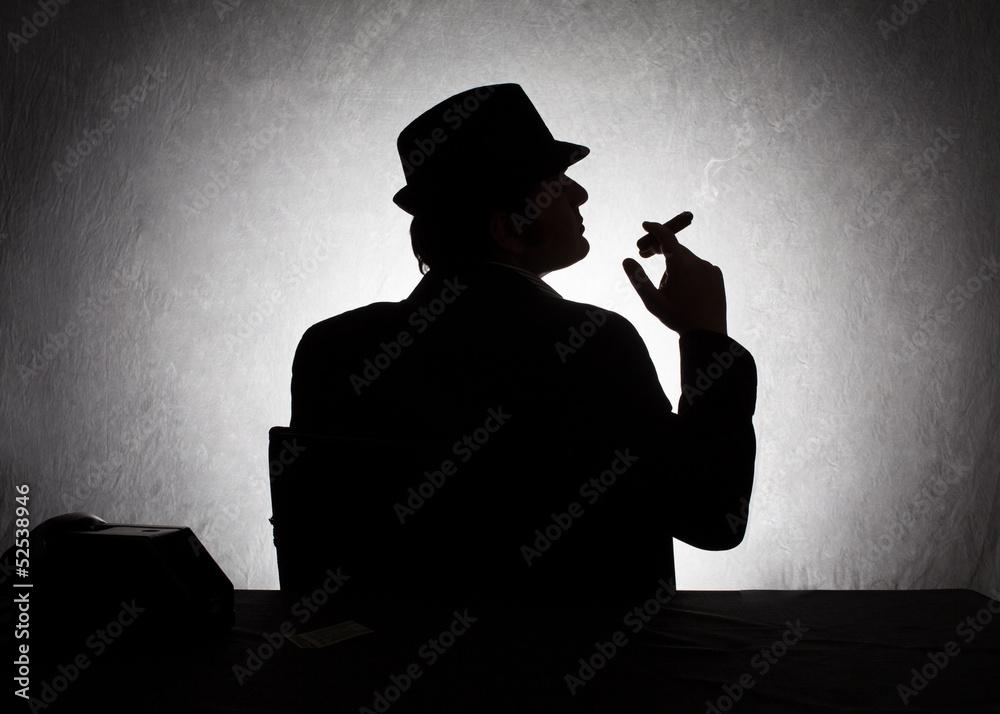 Fototapeta mafia profile