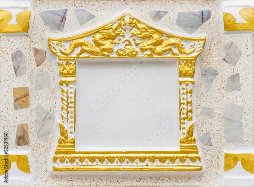 Fotografie, Obraz  Concrete picture frame using in Thai temple