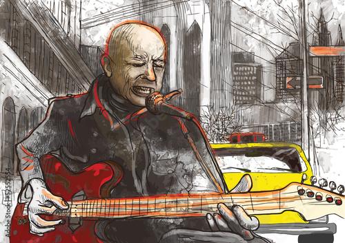 spiewajacy-i-grajacy-na-gitarze-mezczyzna-na-ulicy-w-duzy-miescie-ilustracja